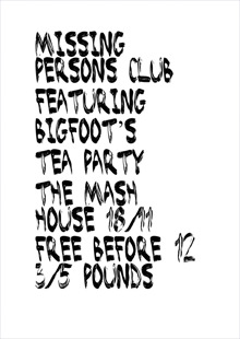 Missing Persons Club featuring Bigfoot's Tea Party