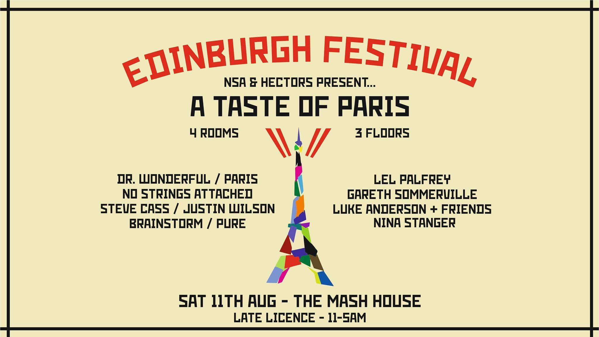 NSA & Hectors present...A Taste Of Paris | 5am Festival Special